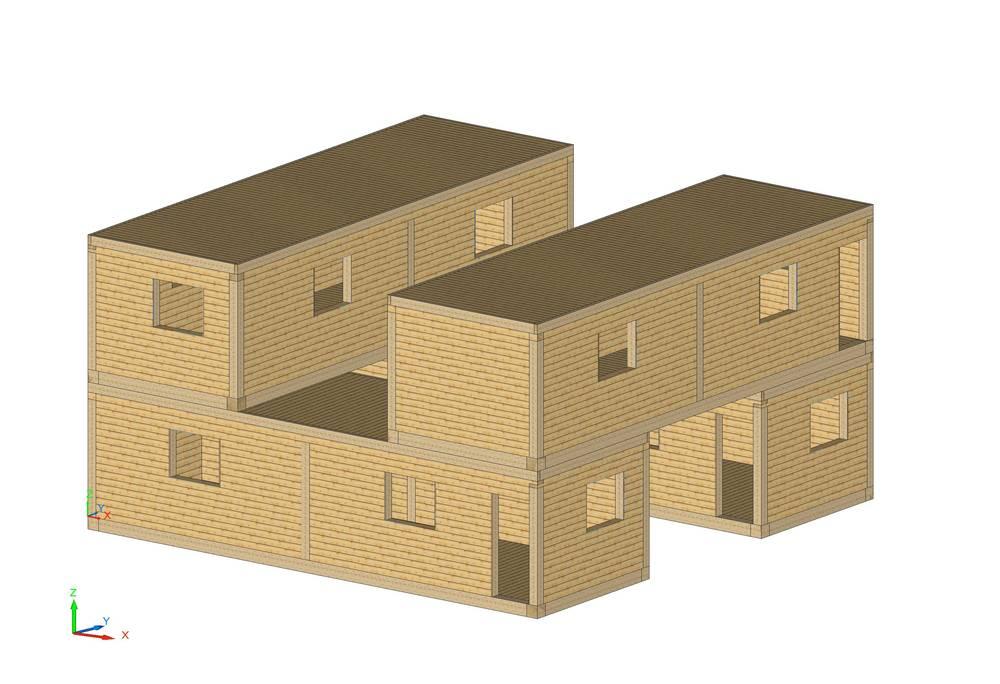 Container aus holz von swissmodule swissmodule for Container en bois